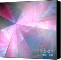 Triangles Digital Art Canvas Prints - Cubist Background Canvas Print by Yali Shi