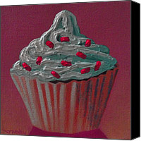 Cupcake Canvas Canvas Prints - Cupcake Delight Canvas Print by John  Nolan