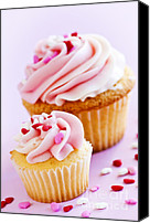 Cupcakes Canvas Prints - Cupcakes Canvas Print by Elena Elisseeva