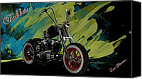 Louis Ferreira Art Canvas Prints - Custom Bobber Canvas Print by Louis Ferreira