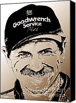 Famous Mixed Media Canvas Prints - Dale Earnhardt Sr in 2001 Canvas Print by J McCombie