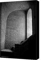 Staircase Canvas Prints - Dark Brick Passageway Canvas Print by Frank Romeo