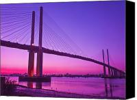 Bridge Crossing River Photo Canvas Prints - Dartford Bridge Canvas Print by Dawn OConnor