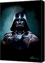 Star Wars Canvas Prints - Darth Vader Star Wars  Canvas Print by Michael Greenaway