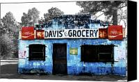 Bars Canvas Prints - Davis Grocery Canvas Print by Steven  Michael