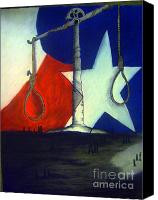 Hanging Pastels Canvas Prints - Death of State  Canvas Print by Paula  Adams