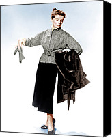 1950s Fashion Canvas Prints - Desk Set, Katharine Hepburn, 1957 Canvas Print by Everett