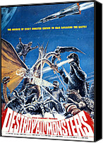 Horror Fantasy Movies Canvas Prints - Destroy All Monsters, Aka Kaiju Canvas Print by Everett