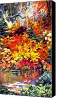 Fall Tapestries - Textiles Canvas Prints - Detail of Fall Canvas Print by Kimberly Simon