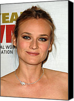 Choker Canvas Prints - Diane Kruger At Arrivals For The Canvas Print by Everett