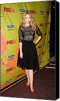 Dianna Agron Canvas Prints - Dianna Agron At Arrivals For Fox Fall Canvas Print by Everett