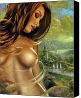 Female Nude Canvas Prints - Diva Canvas Print by Arthur Braginsky