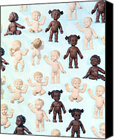 Multicultural Canvas Prints - Dolls Canvas Print by Lawrence Lawry