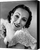 Del Rio Photo Canvas Prints - Dolores Del Rio, 1934 Canvas Print by Everett