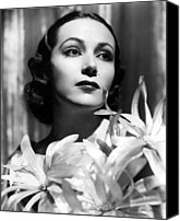 Del Rio Canvas Prints - Dolores Del Rio, Portrait Ca. 1934 Canvas Print by Everett