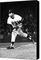 Philadelphia Phillies Stadium Photo Canvas Prints - Don Drysdale (1936-1993) Canvas Print by Granger