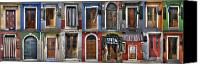 Collage Canvas Prints - doors and windows of Burano - Venice Canvas Print by Joana Kruse