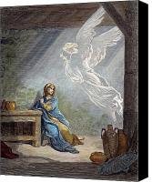 Annunciation Canvas Prints - Dor: The Annunciation Canvas Print by Granger