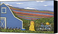 Card Sculpture Canvas Prints - Dream Cycle Canvas Print by Anne Klar