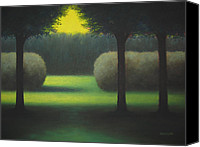 Trees Pastels Canvas Prints - Dream Park Canvas Print by Christopher Jackson