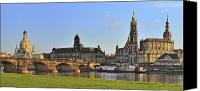 Frauenkirche Canvas Prints - Dresden Canvas Print by Travel Images Worldwide
