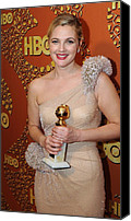 Golden Globe Canvas Prints - Drew Barrymore Wearing An Atelier Canvas Print by Everett