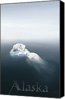 Polar Bear Canvas Prints - Drifted Canvas Print by Joel Payne
