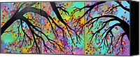 Abstract Expressionist Canvas Prints - Early Autumn Canvas Print by Suzeee Creates