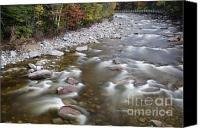 White River Scene Canvas Prints - East Branch of the Pemigewasset River - Lincoln New Hampshire Canvas Print by Erin Paul Donovan