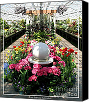 Father Christmas Canvas Prints - Easter Spring Flower Show at Botanical Gardens Canvas Print by Rose Santuci-Sofranko