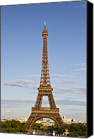 Television Canvas Prints - Eiffel Tower Canvas Print by Melanie Viola