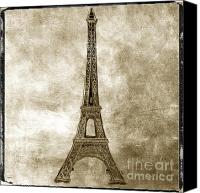 Worth Canvas Prints - Eiffel tower. Paris Canvas Print by Bernard Jaubert