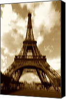 Structures Canvas Prints - Eiffel Tower  Canvas Print by Tony Cordoza