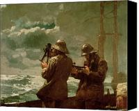 Lost Canvas Prints - Eight Bells Canvas Print by Winslow Homer