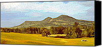Kelso Canvas Prints - Eildon Hills Canvas Print by James Shepherd