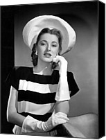 White Gloves Canvas Prints - Eleanor Parker, 1945 Canvas Print by Everett