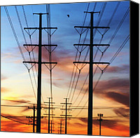 Instagram Canvas Prints - Electric Sunset Canvas Print by James Granberry