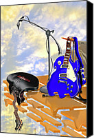 Electric Guitar Canvas Prints - Electrical Meltdown II Canvas Print by Mike McGlothlen
