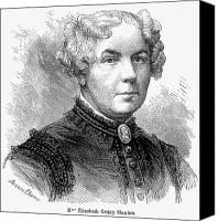 Hairstyle Canvas Prints - Elizabeth Cady Stanton Canvas Print by Granger