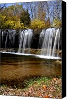 Indiana Autumn Canvas Prints - Elkhorn Falls Wayne County Indiana Canvas Print by Marsha Williamson Mohr
