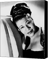 Hairstyle Photo Canvas Prints - Ella Fitzgerald (1917-1996) Canvas Print by Granger