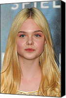 At Arrivals Canvas Prints - Elle Fanning At Arrivals For Super 8 Canvas Print by Everett