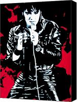 Original Canvas Prints - Elvis Canvas Print by Luis Ludzska
