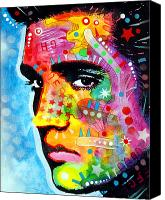 Icon Painting Canvas Prints - Elvis Presley Canvas Print by Dean Russo