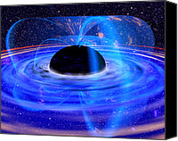 Braking Canvas Prints - Energy-releasing Black Hole Canvas Print by Nasa