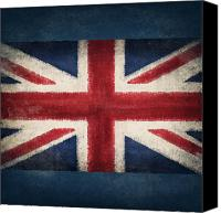 Independence Photo Canvas Prints - England flag Canvas Print by Setsiri Silapasuwanchai