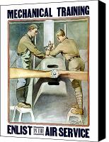 Mechanic Canvas Prints - Enlist In The Air Service Canvas Print by War Is Hell Store