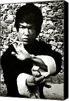 Martial Arts Canvas Prints - Enter The Dragon, Bruce Lee, 1973 Canvas Print by Everett
