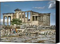 Acropolis Canvas Prints - Erechtheum Canvas Print by David Bearden