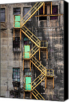 Fire Escape Photo Canvas Prints - Escape Canvas Print by Jakub Sisak